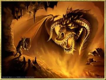 dragon contra caballero valiente